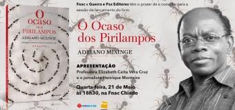 """Lançamento do livro """" O Ocaso dos Pirilampos"""" de Adriano Mixinge"""