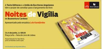 """Lançamento do livro """"Noites de Vigília"""" de Boaventura Cardoso, 6 de Junho"""