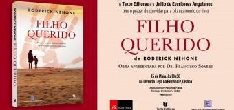 """Lançamento do livro """"Filho Querido"""" de Roderick Nehone, 15 Maio"""