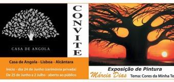 """Exposição de Pintura, """"Cores da minha Terra"""", de Márcia Dias"""