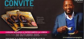 """Lançamento do livro """"Essências e Vivências"""" de Armindo Laureano, 30 Outubro"""