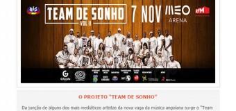 """Team de Sonho"" 7 Novembro MEO Arena"