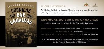"""Apresentação da obra """"Crónica do Bar dos Canalhas"""" – de Eduardo Água Boa – 17 Março"""
