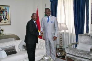 Embaixador Marcos Barrica recebe homólogo da República Federal da Nigéria