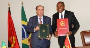 Conversações entre delegações de Angola e do Brasil  FOTO: LINO GUIMARÃES