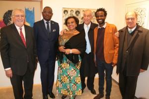 Cerimónia de inauguração de exposição de artistas plásticos angolanos em Portugal