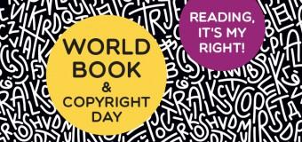 Dia Mundial do Livro e do Direito do Autor – 23 de Abril