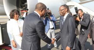 Presidente da República , João Lourenço, chega a Luanda depois da visita oficial a França e Bélgica Foto: Pedro Parente