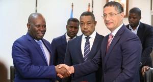 Assinatura do Acordo-quadro Cooperação Energética Angola/RD Congo FOTO: PEDRO JOÃO