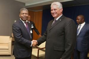 Nova Iorque: Presidente da República, João Lourenço , encontra-se com homólogo de Cuba, Miguel Díaz-Canel FOTO: PEDRO PARENTE