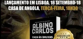 """Lançamento do livro """"Caça às Bruxas"""" de Albino Carlos – 18 Setembro"""