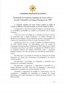 Declaração AAL