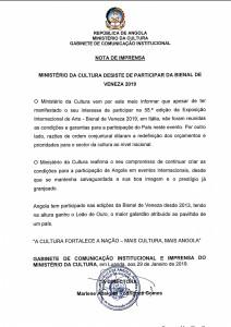 Nota de Imprensa - Ministério da Cultura