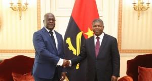Presidente João Lourenço (à dir.) encontra-se com o homólogo da República Democrática do Congo, Félix Tshisekedi FOTO: PEDRO PARENTE