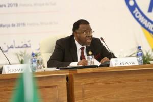 ÁFRICA DO SUL: PRESIDENTE EM EXERCÍCIO DA SADC, HAGE GEINGOB  FOTO: HENRI CELSO