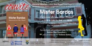 Convite Mister Bardas de Manuel Pinto