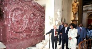 Chefe de Estado visita Museus do Vaticano FOTO: MANUEL ZAMBA