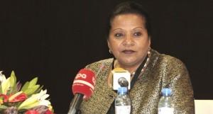 Fátima Jardim, Representante permanente de Angola junto do Programa Alimentar Mundial (PAM) e Embaixadora de Angola na Itália FOTO: LUCAS NETO