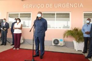 Presidente da República, João Lourenço, fala no Hospital baia farta Foto: Pedro Parente
