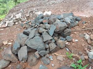 Minas de Manganês na localidade de Quitota Cacuso Fotografia por: Cedida
