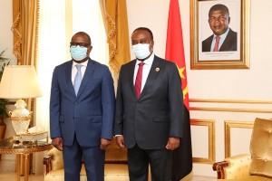 Delfim Neves, Presidente do parlamento de São Tomé Príncipe, e Fernando da Piedade Dias dos Santos, Presidente do parlamento de Angola  Foto: António Escrivão
