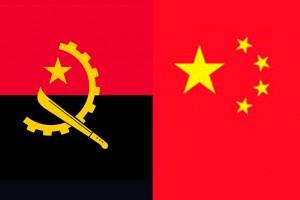 Arte das bandeiras da República de Angola e da República da China  Foto: Divulgação