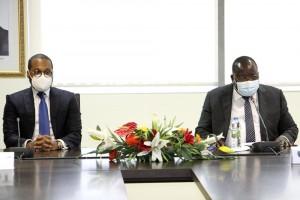 Presidente da CNE reune-se com Ministro da Administração do Território para apresentar estratégia do Registo Eleitoral presencial e no exterior  Foto: Francisco Miúdo